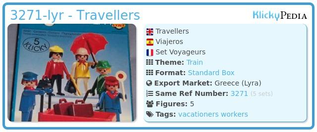 Playmobil 3271-lyr - Travellers