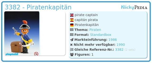 Playmobil 3382 - Piratenkapitän