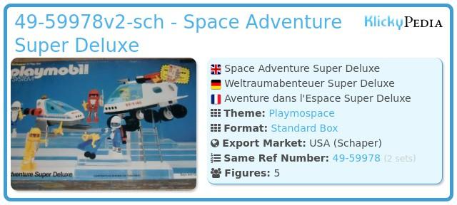 Playmobil 49-59976s2-sch - Space Adventure Super Deluxe