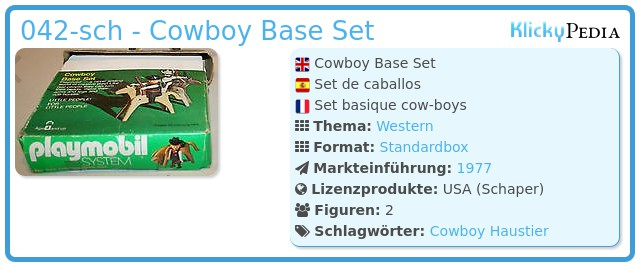 Playmobil 042-sch - Cowboy Base Set