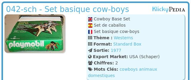 Playmobil 042-sch - Set basique cow-boys