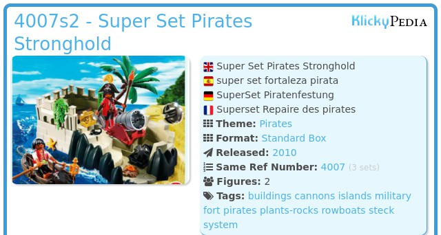 Playmobil 4007s2 - Super set pirates stronghold