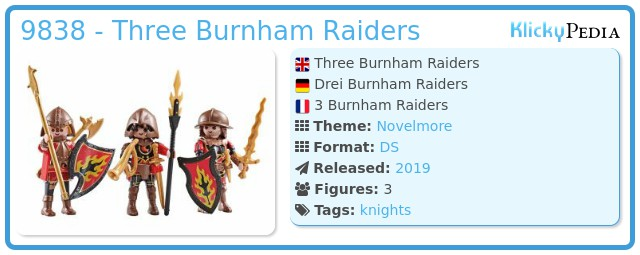 Playmobil 9838 - Three Burnham Raiders