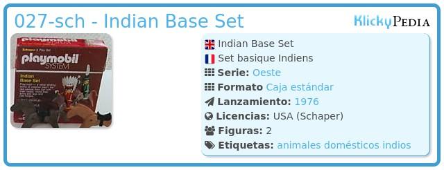 Playmobil 027-sch - Indian Base Set