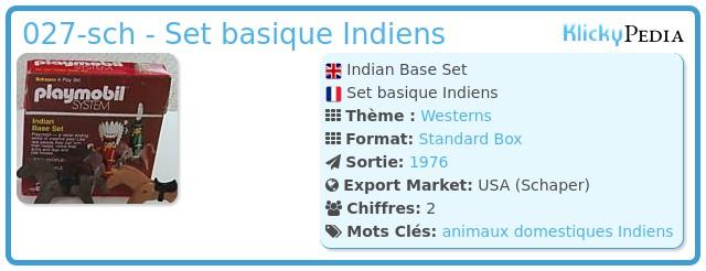 Playmobil 027-sch - Set basique Indiens