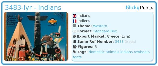 Playmobil 3483-lyr - Indians