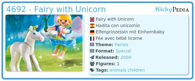 Playmobil 4692 - Fairy with Unicorn