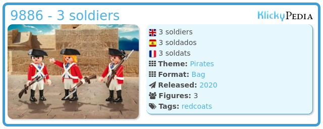 Playmobil 9886 - 3 soldiers