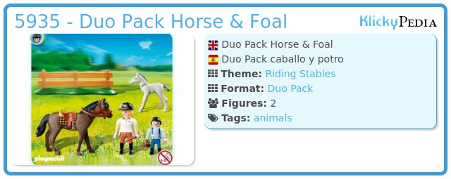Playmobil 5935 - Duo Pack Horse & Foal