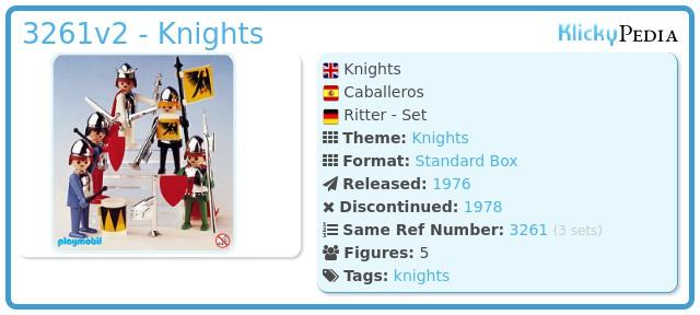 Playmobil 3261v2 - Knights