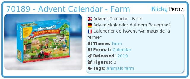 Playmobil 70189 - Advent Calendar On The Farm