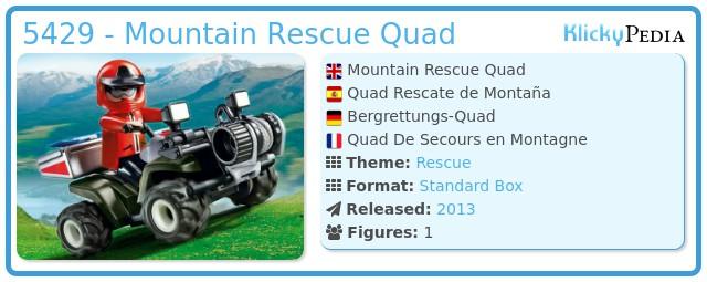 Playmobil 5429 - Mountain Rescue Quad