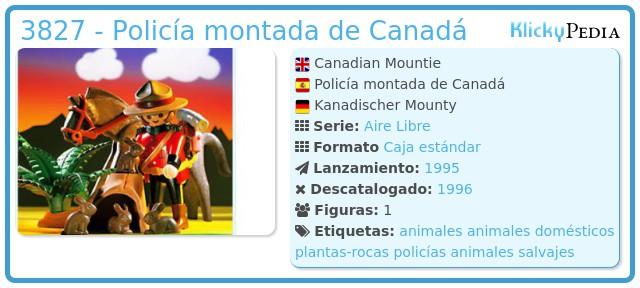 Playmobil 3827 - Policía montada de Canadá