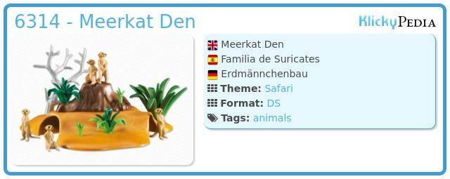 Playmobil 6314 - Meerkat Den