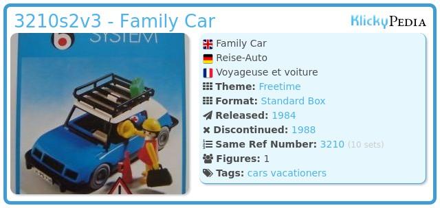 Playmobil 3210s2v3 - Blue Car