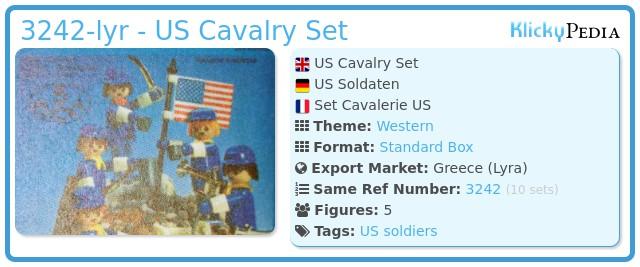 Playmobil 3242-lyr - US Cavalry Set
