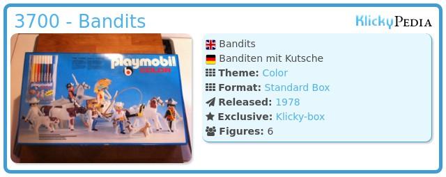 Playmobil 3700 - Bandits