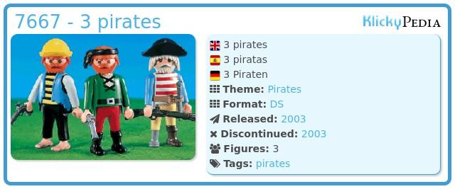 Playmobil 7667 - 3 pirates