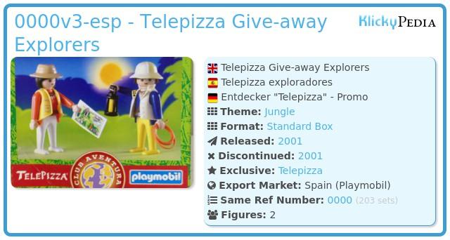 Playmobil 0000v3-esp - Telepizza Give-away Explorers