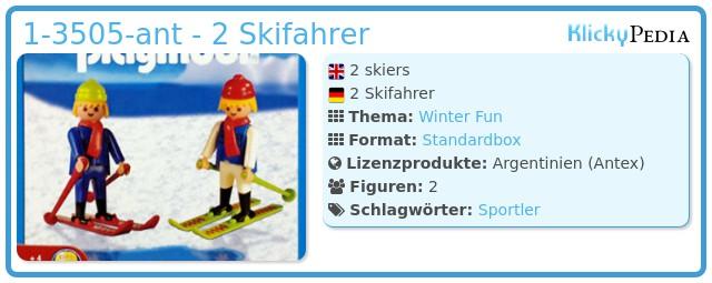 Playmobil 1-3505-ant - 2 Skifahrer