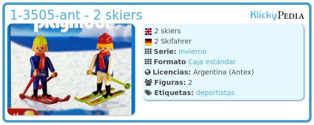 Playmobil 1-3505-ant - 2 skiers