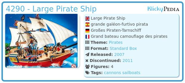 Playmobil 4290 - Large Pirate Ship