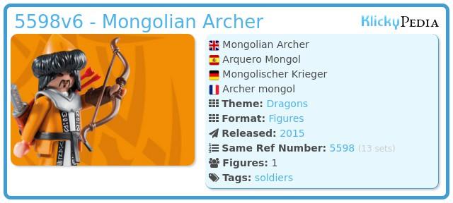 Playmobil 5598v6 - Mongolian Archer