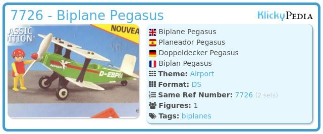 Playmobil 7726 - Biplane Pegasus