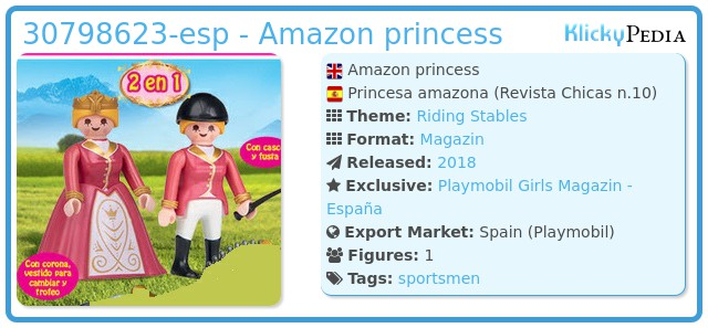 Playmobil 30798623-esp - Amazon princess