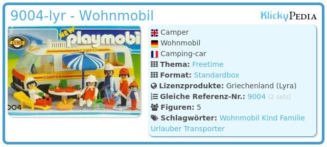 Playmobil 9004-lyr - Camper