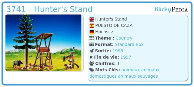 Playmobil 3741 - Hunter's Stand