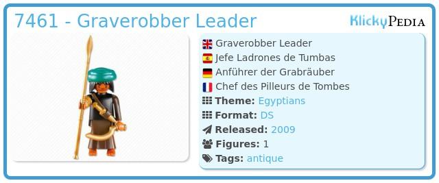 Playmobil 7461 - Graverobber Leader