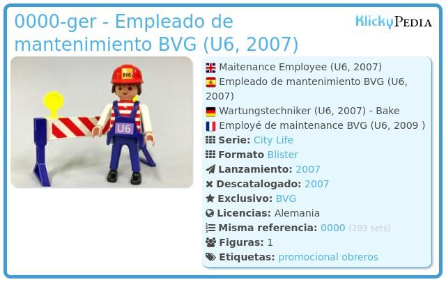 Playmobil 0000-ger - Empleado de mantenimiento BVG (U6, 2007)