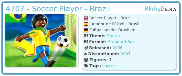 Playmobil 4707 - Soccer Player - Brazil