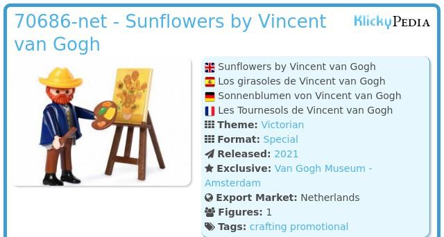 Playmobil 70686 - Sunflowers by Vincent Van Gogh