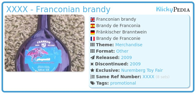 Playmobil XXXX - Franconian brandy