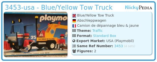 Playmobil 3453-usa - Blue/Yellow Tow Truck