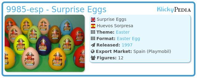Playmobil 9985-esp - Surprise Eggs