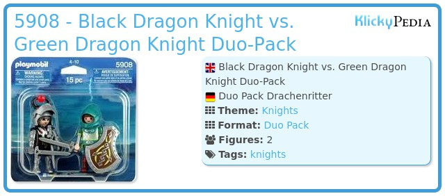 Playmobil 5908 - Black Dragon Knight vs. Green Dragon Knight Duo-Pack