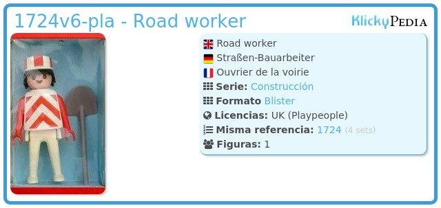 Playmobil 1724v6-pla - Road worker