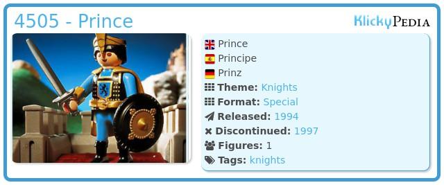Playmobil 4505 - Prince