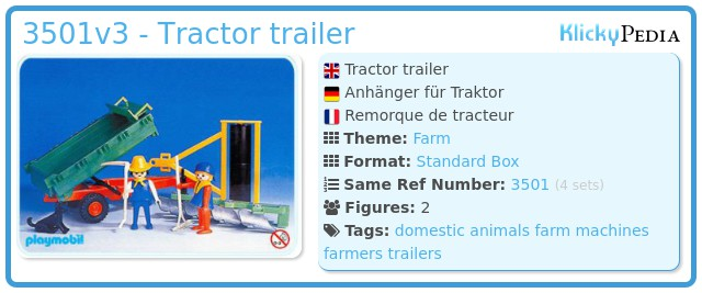 Playmobil 3501v3 - Tractor trailer