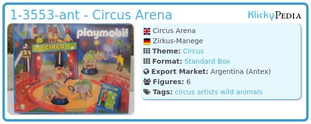 Playmobil 1-3553-ant - Circus Arena