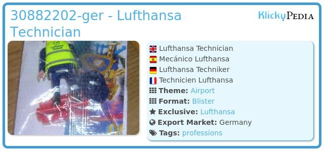 Playmobil 30882202-ger - Lufthansa Technician