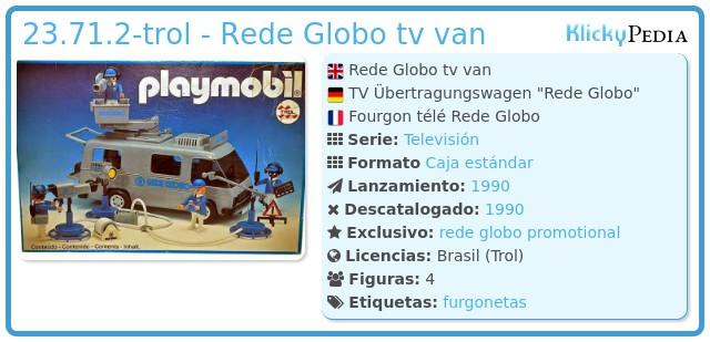 Playmobil 23.71.2-trol - Rede Globo tv van