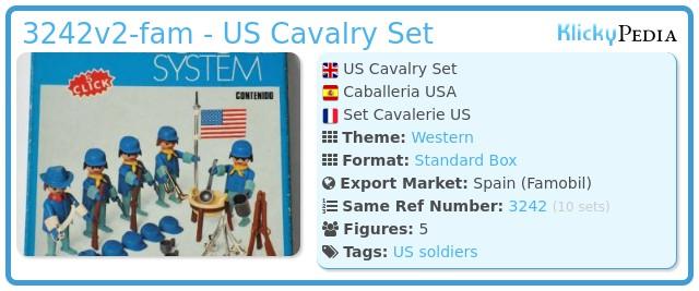 Playmobil 3242v2-fam - US Cavalry Set