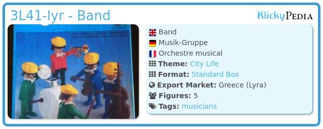 Playmobil 3L41-lyr - Band