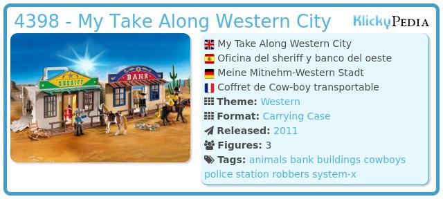 Playmobil 4398 - My Take Along Western City