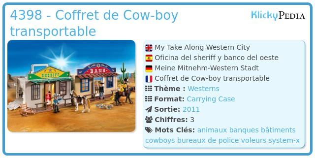 Playmobil 4398 - Coffret de Cow-boy transportable