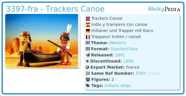 Playmobil 3397-fra - Trackers Canoe